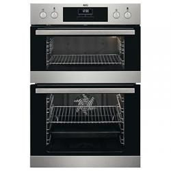 AEG SurroundCook DCB331010M Electric Double Oven – Stainless Steel, Stainless Steel