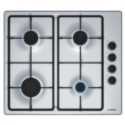 Bosch PBP6B5B60 60cm 4 Burner Gas Hob in Brushed Steel