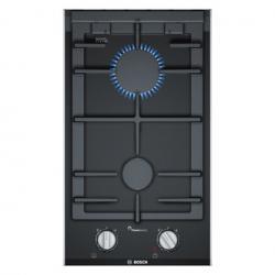 Bosch PRB3A6D70 Serie 8 30cm Domino 2 Burner Gas Hob in Black Glass