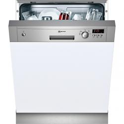 Neff S41E50N1GB Semi-Integrated Dishwasher, Stainless Steel