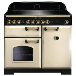 Rangemaster 115580 100cm CLASSIC DELUXE Induction Range In Cream Brass